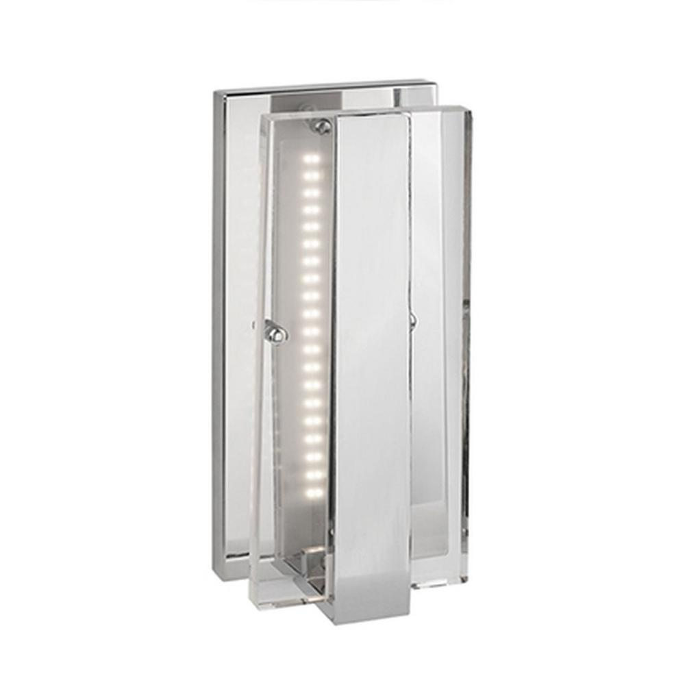 Orion 60-Watt Equivalence Chrome Integrated LED Sconce