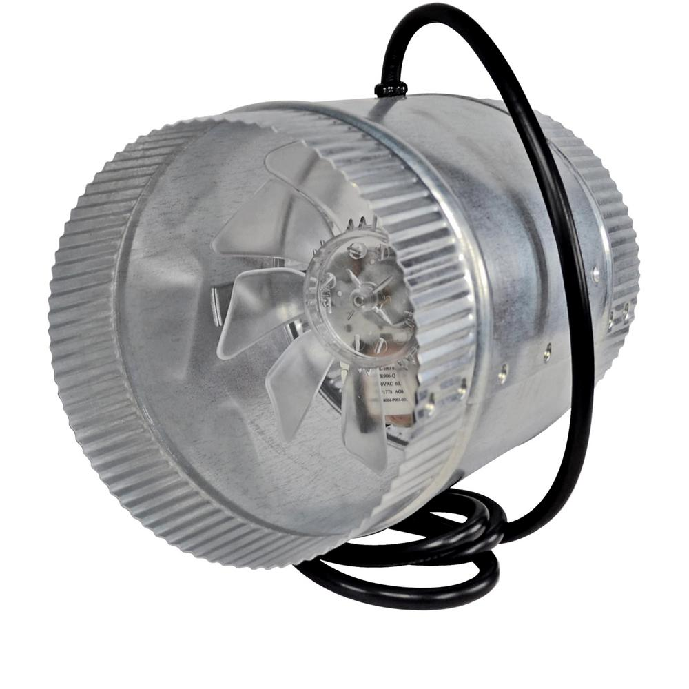 6 in. Corded In-Line Duct Fan Double Crimped