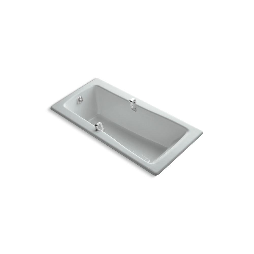 KOHLER Maestro 5.5 ft. Reversible Drain Soaking Tub in Ice Grey-DISCONTINUED