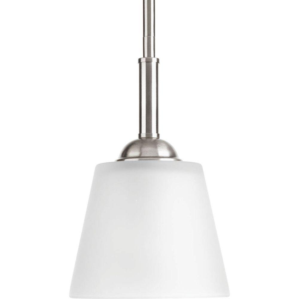 Progress Lighting Arden Collection 1-Light Brushed Nickel Mini-Pendant