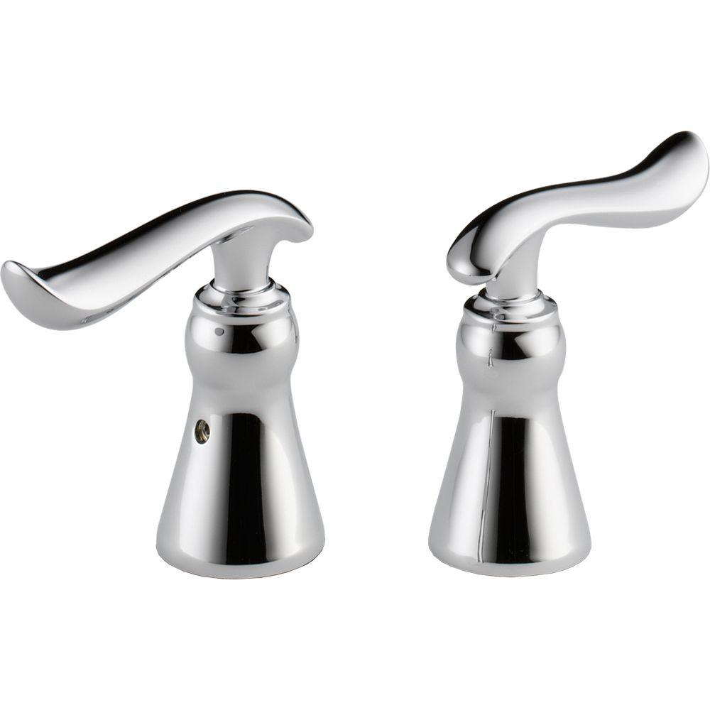 Delta Linden Bathroom Faucet Two Metal Lever Handle Kit in Chrome