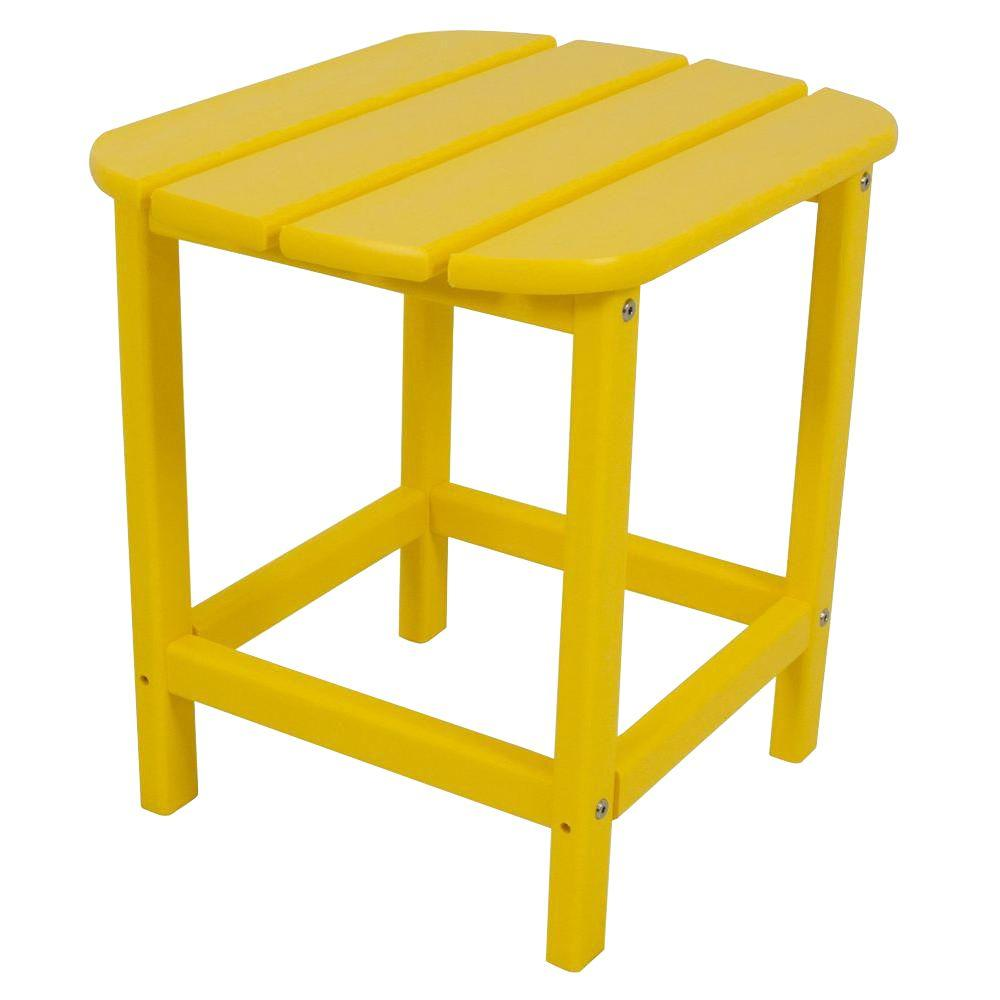 South Beach 18 in. Lemon Patio Side Table