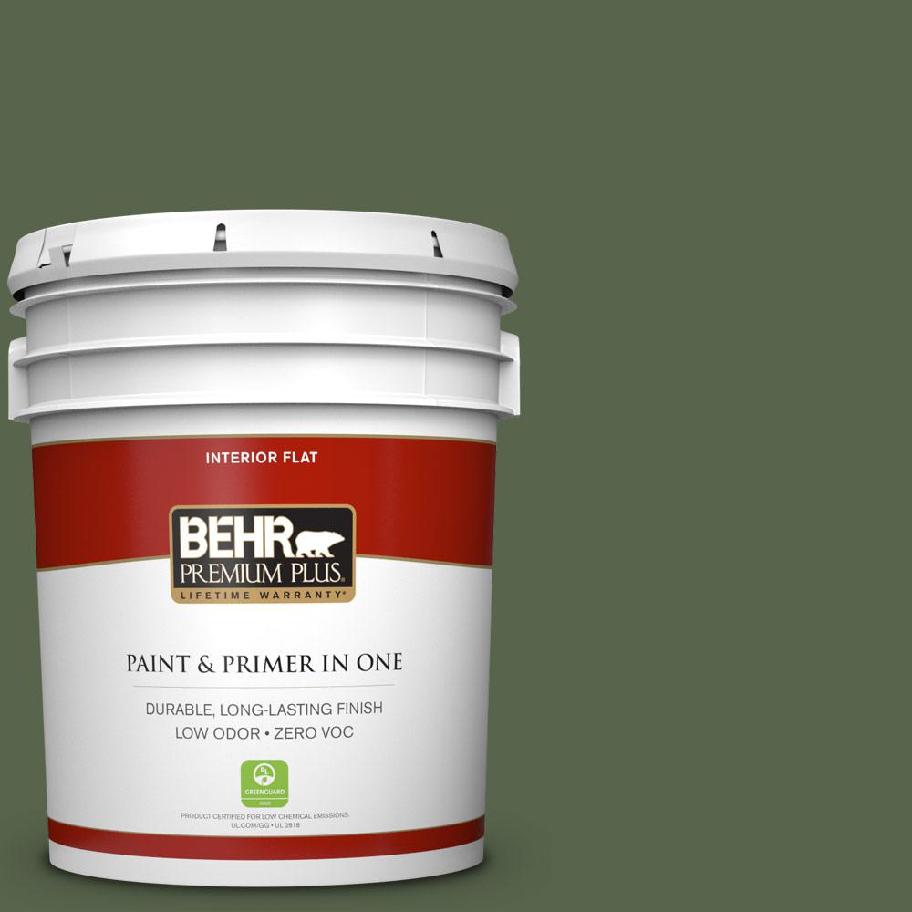 5 gal. #410F-7 Fiddle Leaf Zero VOC Flat Interior Paint