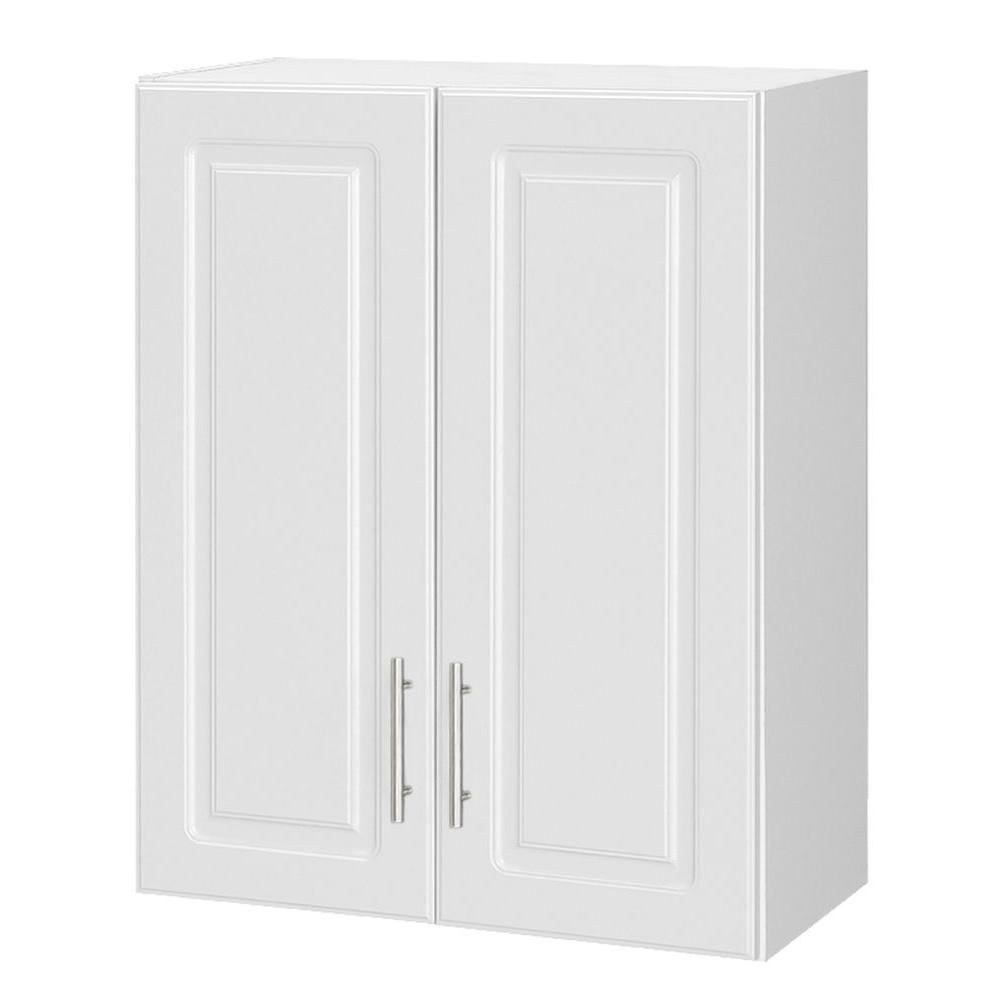 Select 30 in. H MDF Topper 2-Door Wall Cabinet in White