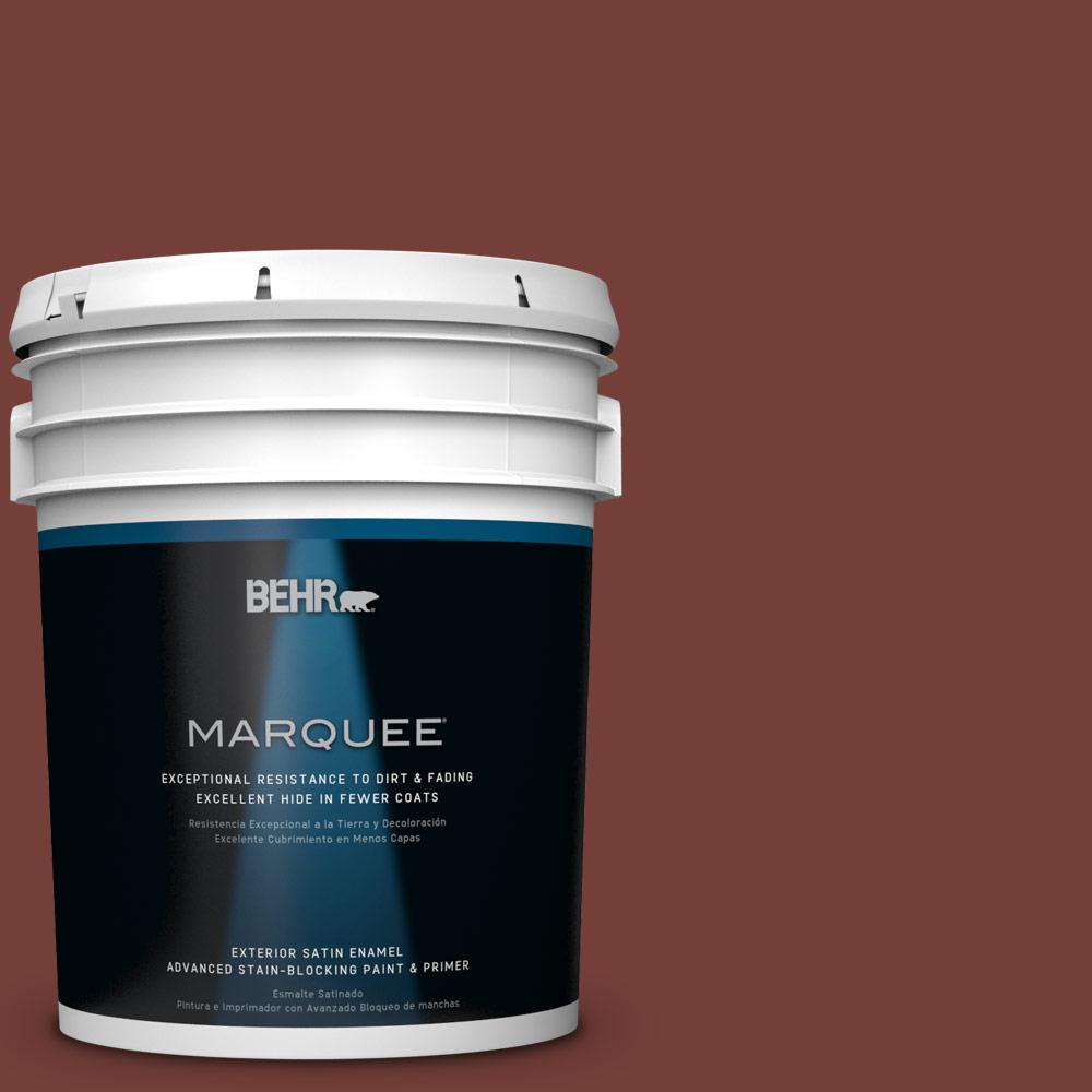 BEHR MARQUEE 5-gal. #BXC-76 Florence Red Satin Enamel Exterior Paint-945305 -