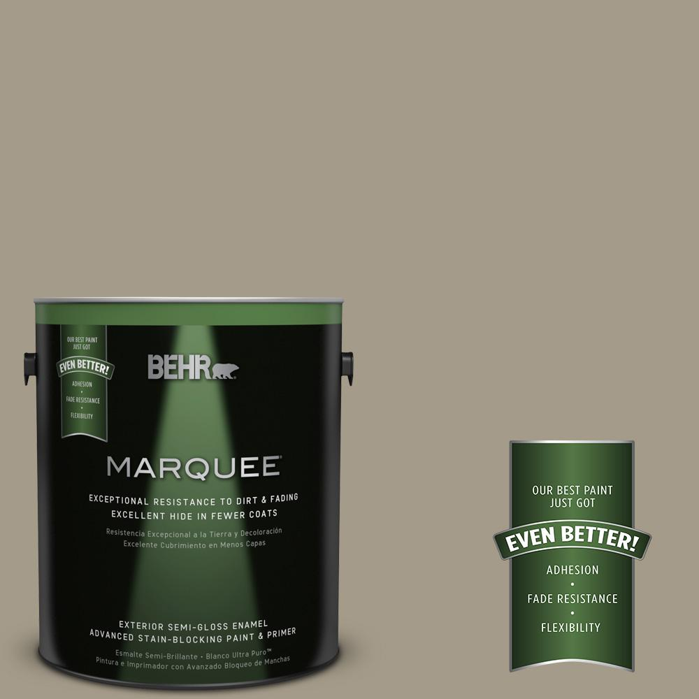 BEHR MARQUEE 1-gal. #PMD-57 Fossil Stone Semi-Gloss Enamel Exterior Paint