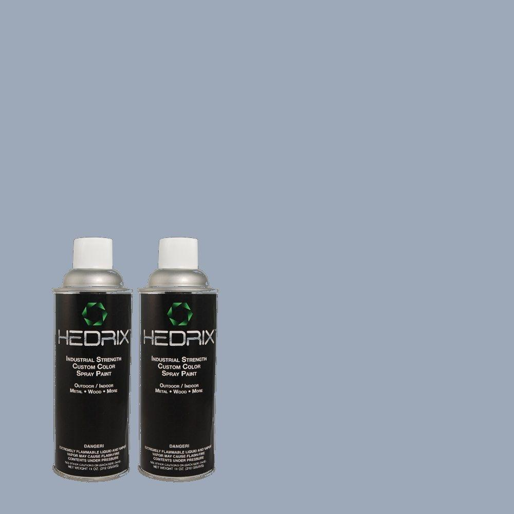 Hedrix 11 oz. Match of 2A40-4 Glacial Shade Semi-Gloss Custom Spray Paint (2-Pack)