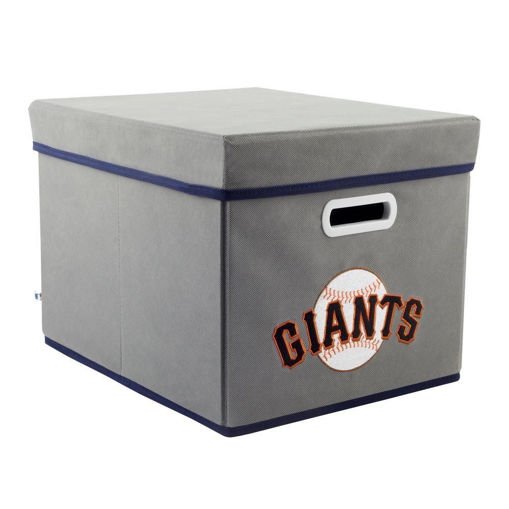 MyOwnersBox MLB STACKITS San Francisco Giants 12 in. x 10 in. x 15 in. Stackable Grey Fabric Storage Cube
