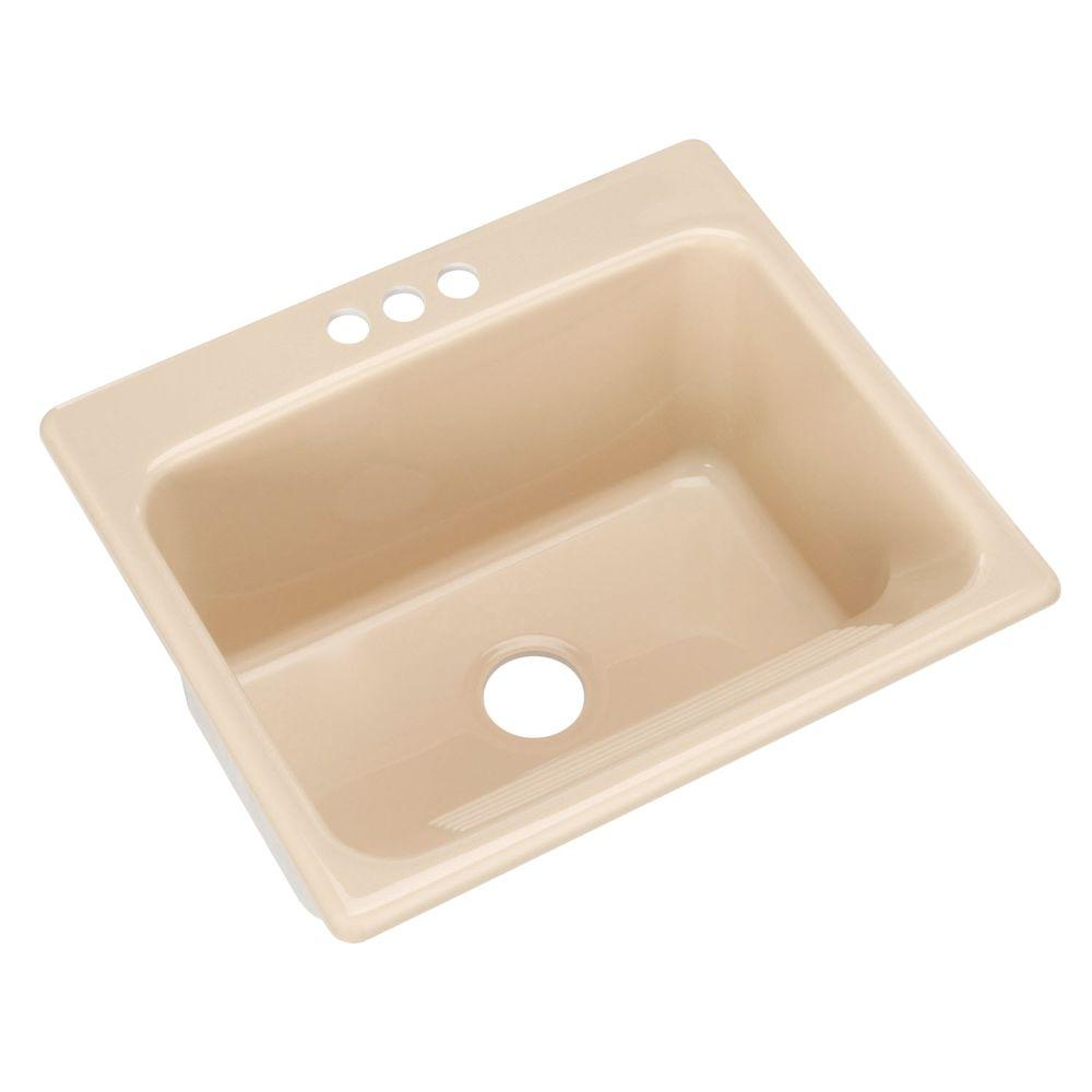 Single Bowl Utility Sink : ... Drop-In Acrylic 25 in. 3-Hole Single Bowl Utility Sink in Candle Lyte