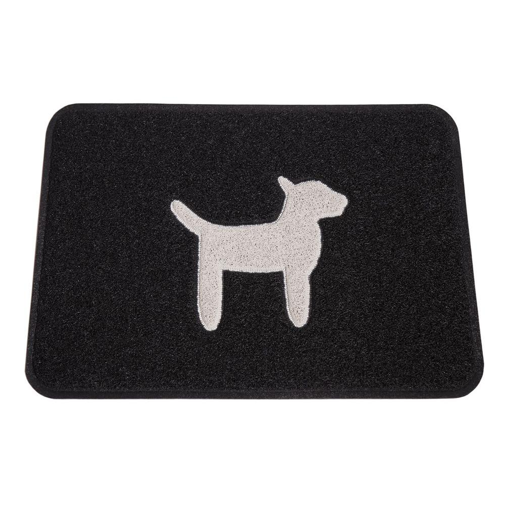 Smartcatcher Modern Dog Collection Black and Cool White 24 in. x