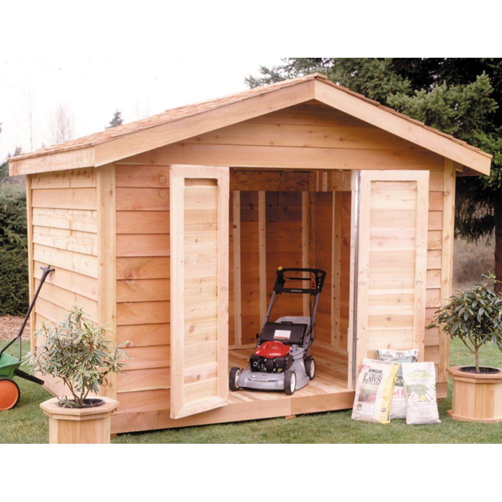 Select Cedar Shed 8 ft. x 10 ft. Cedar Select Bevel Siding Shed Kit-DISCONTINUED