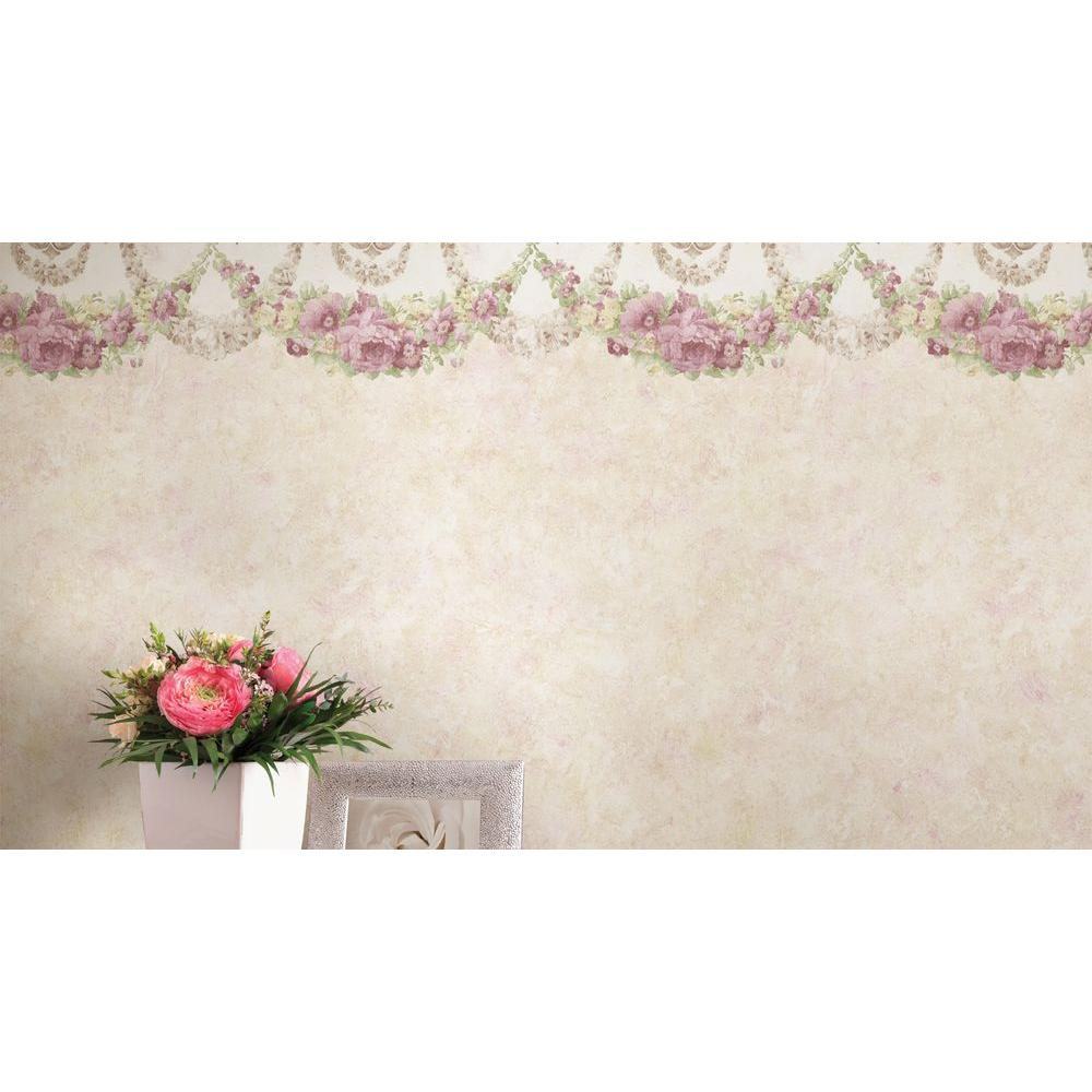 Mirage 6 in. W x 180 in. H Marianne Pink Floral