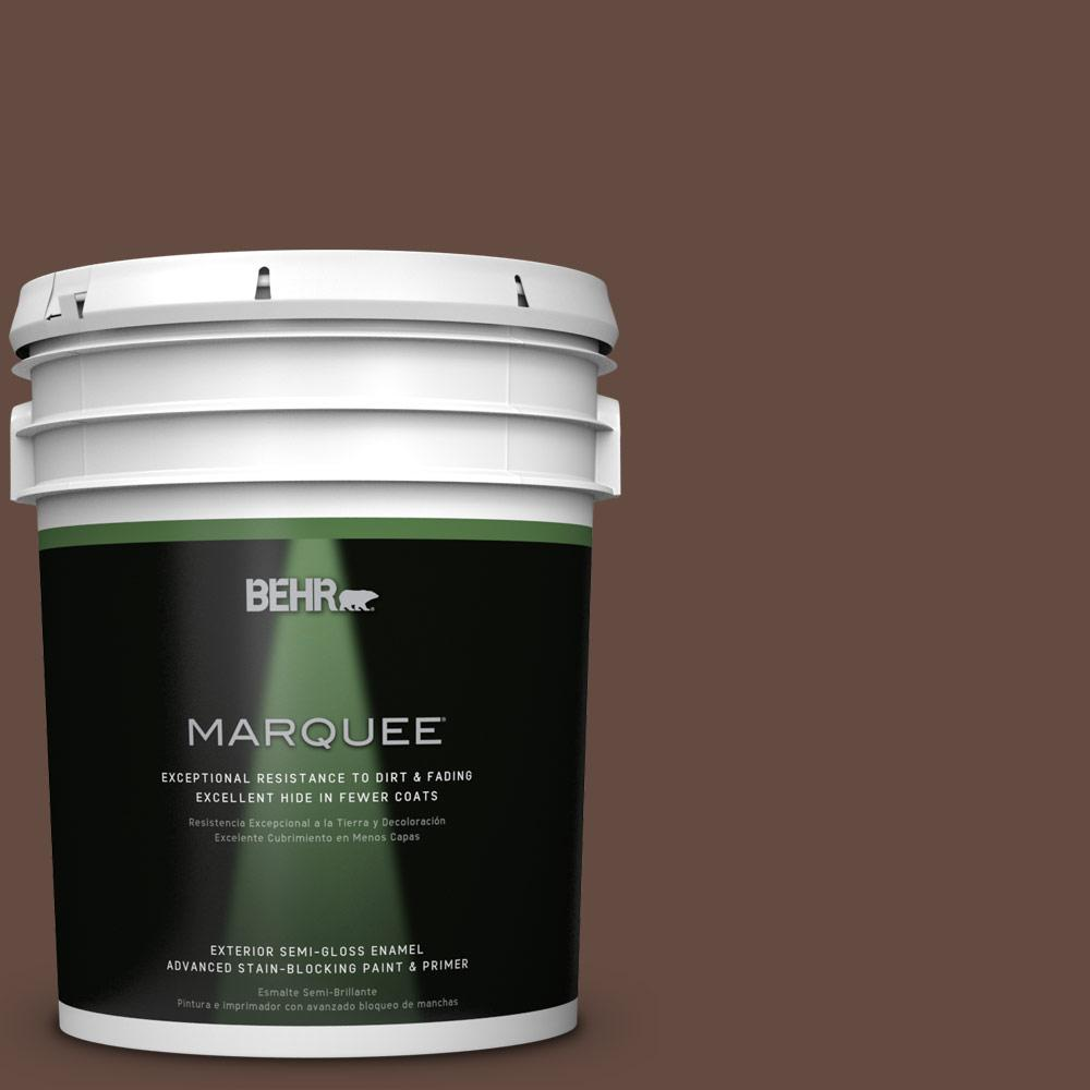 BEHR MARQUEE 5-gal. #QE-16 Earth Chicory Semi-Gloss Enamel Exterior Paint