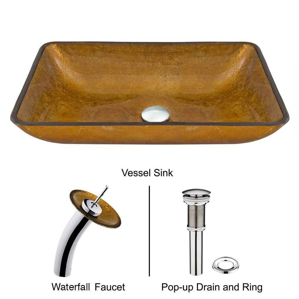 Vigo Vessel Sink in Copper with Faucet Set in Coppers-VGT009CHRCT -