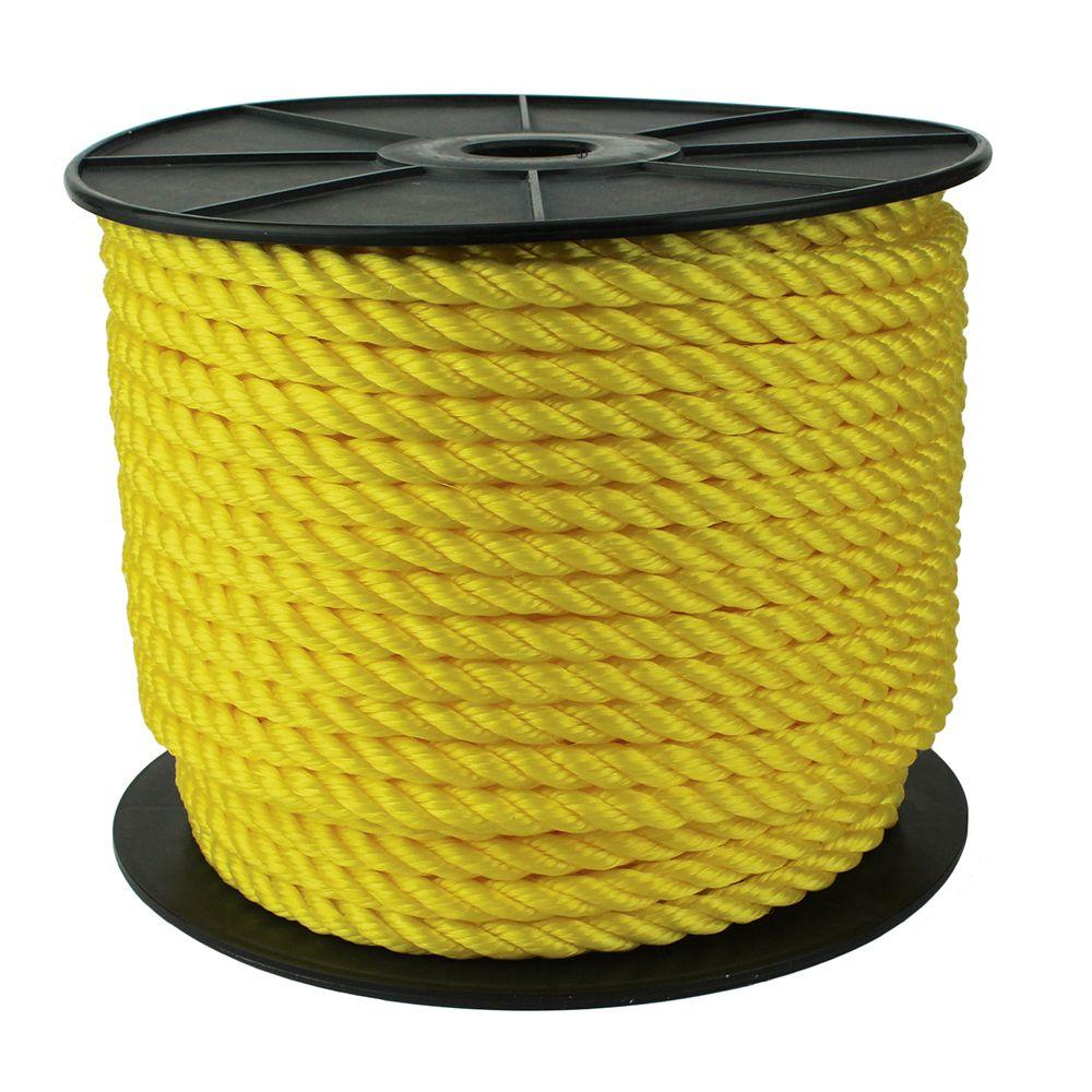 1/2 in. x 300 ft. Twisted Rope, Yellow