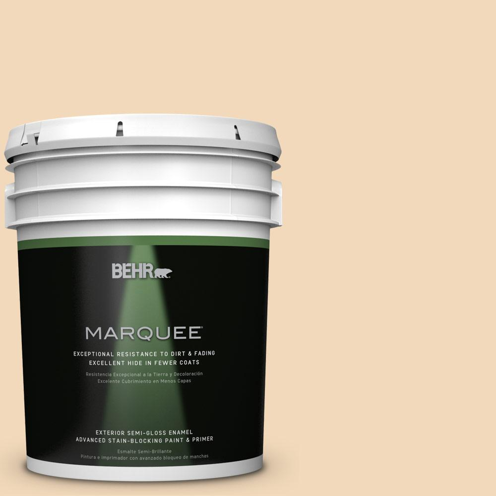 BEHR MARQUEE 5-gal. #M250-2 Golden Pastel Semi-Gloss Enamel Exterior Paint