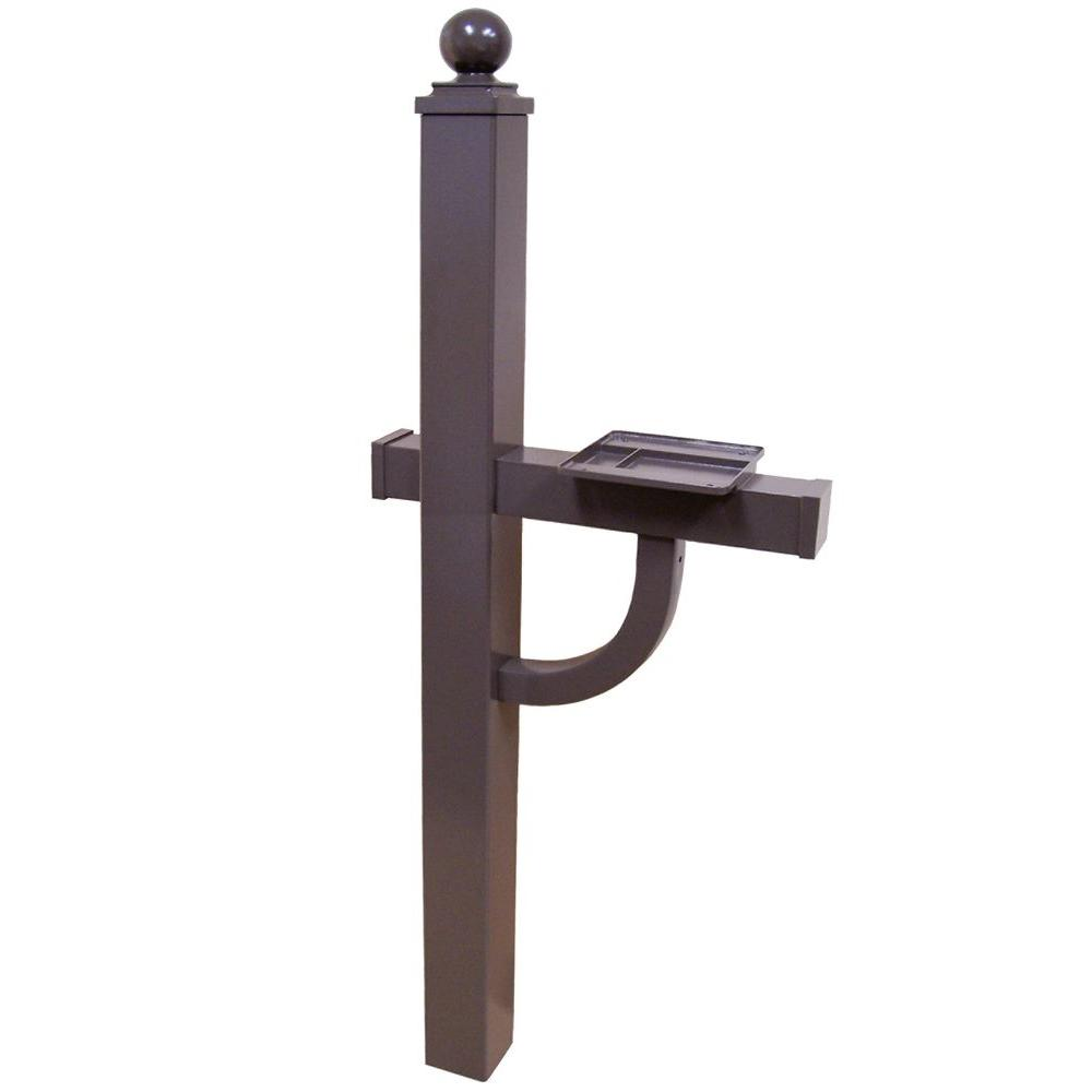Exceptional Bronze Mailbox With Post Part - 3: Keystone Aluminum Deluxe Mailbox Post In Bronze