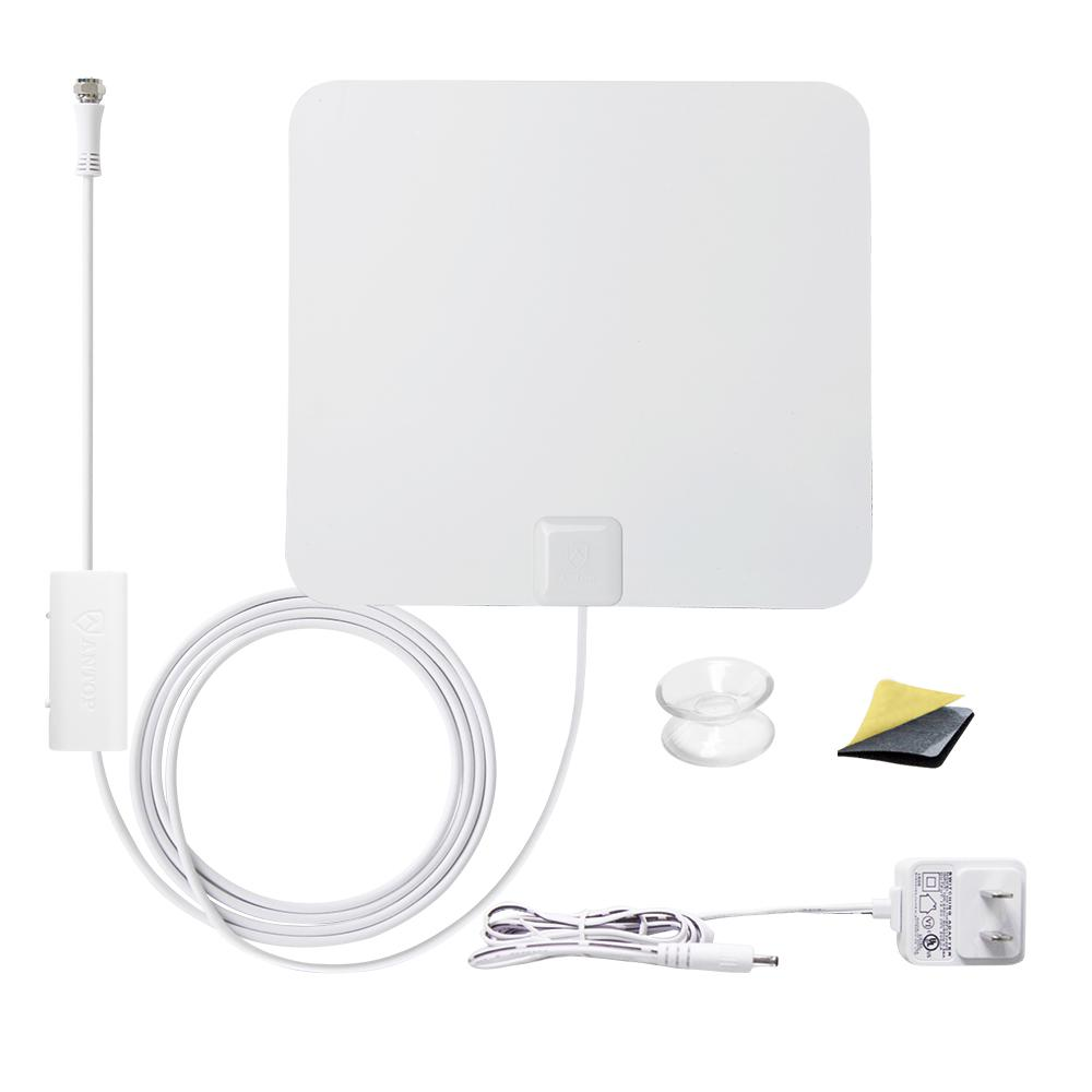 Paper Thin Indoor HD TV Antenna with Smartpass Amplifier Built-In 4G