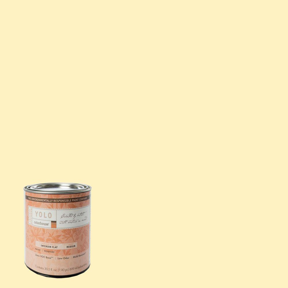 YOLO Colorhouse 1-Qt. Sprout .04 Flat Interior Paint-DISCONTINUED