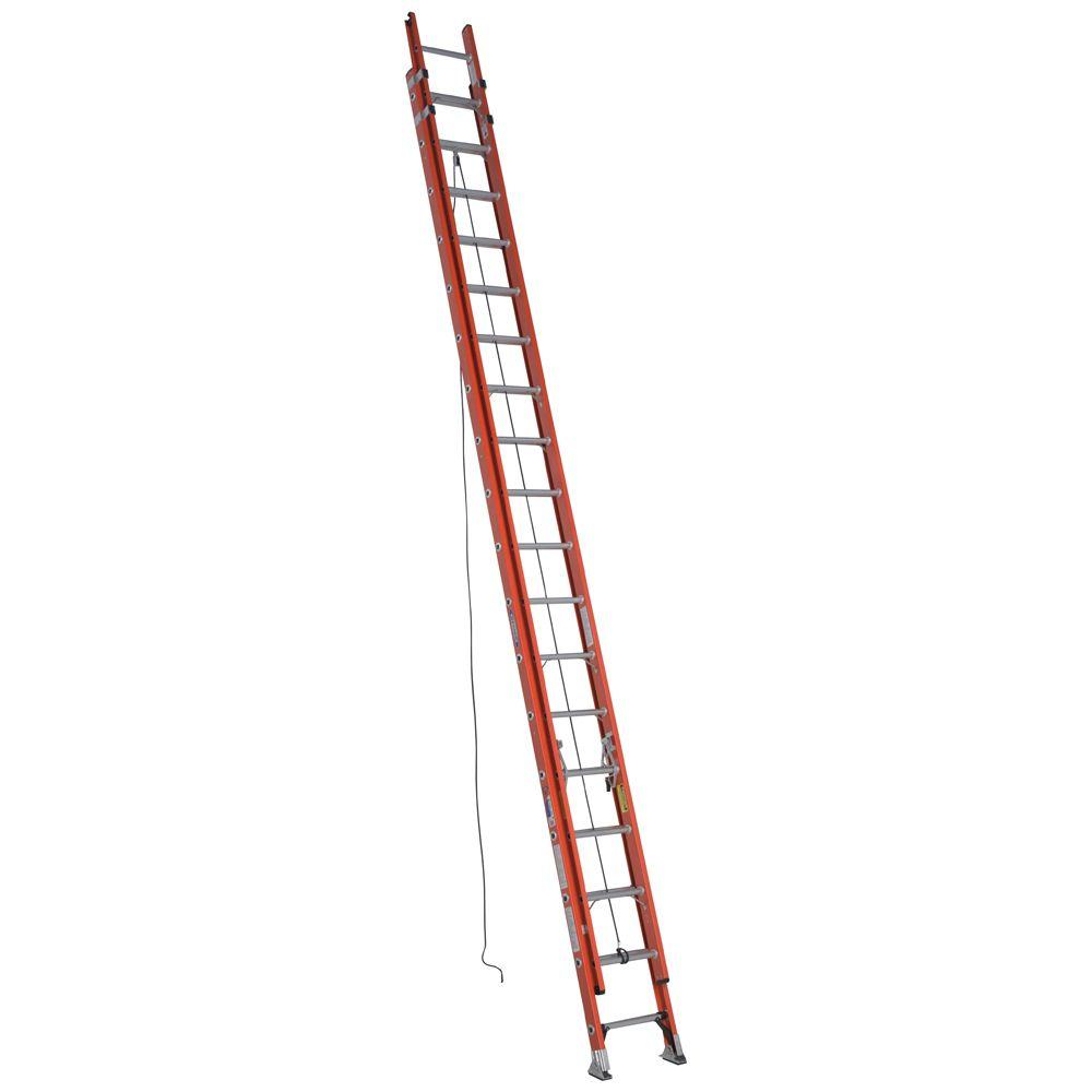 36 ft. Fiberglass D-Rung Extension Ladder with 300 lb. Load Capacity