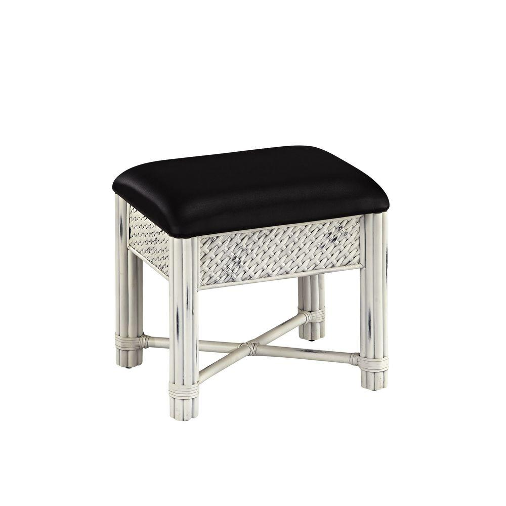 Home Styles Marco Island Vanity Bench in White-5548-28 - The Home