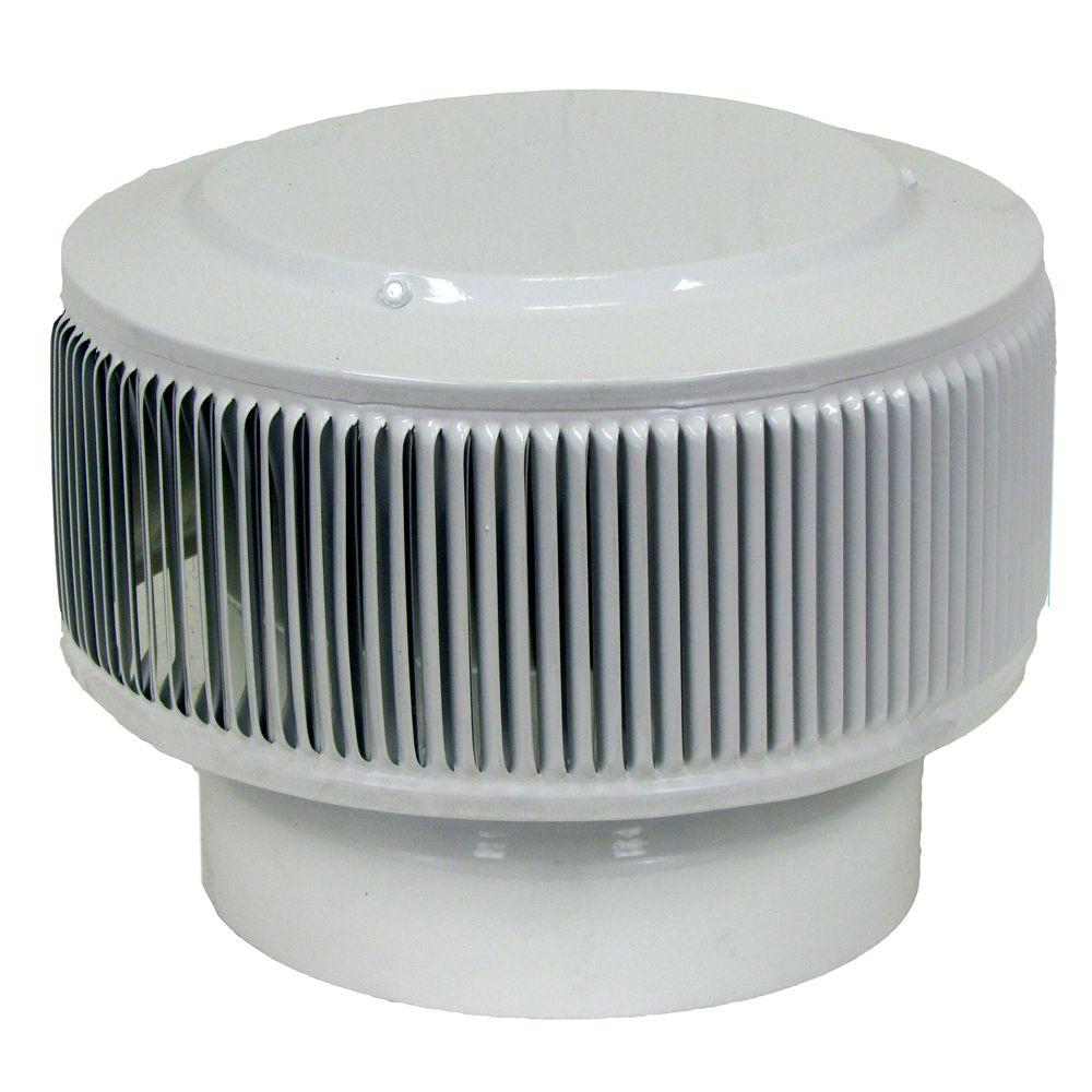 Aura PVC Vent Cap 8 in. Dia Exhaust Vent with Adapter