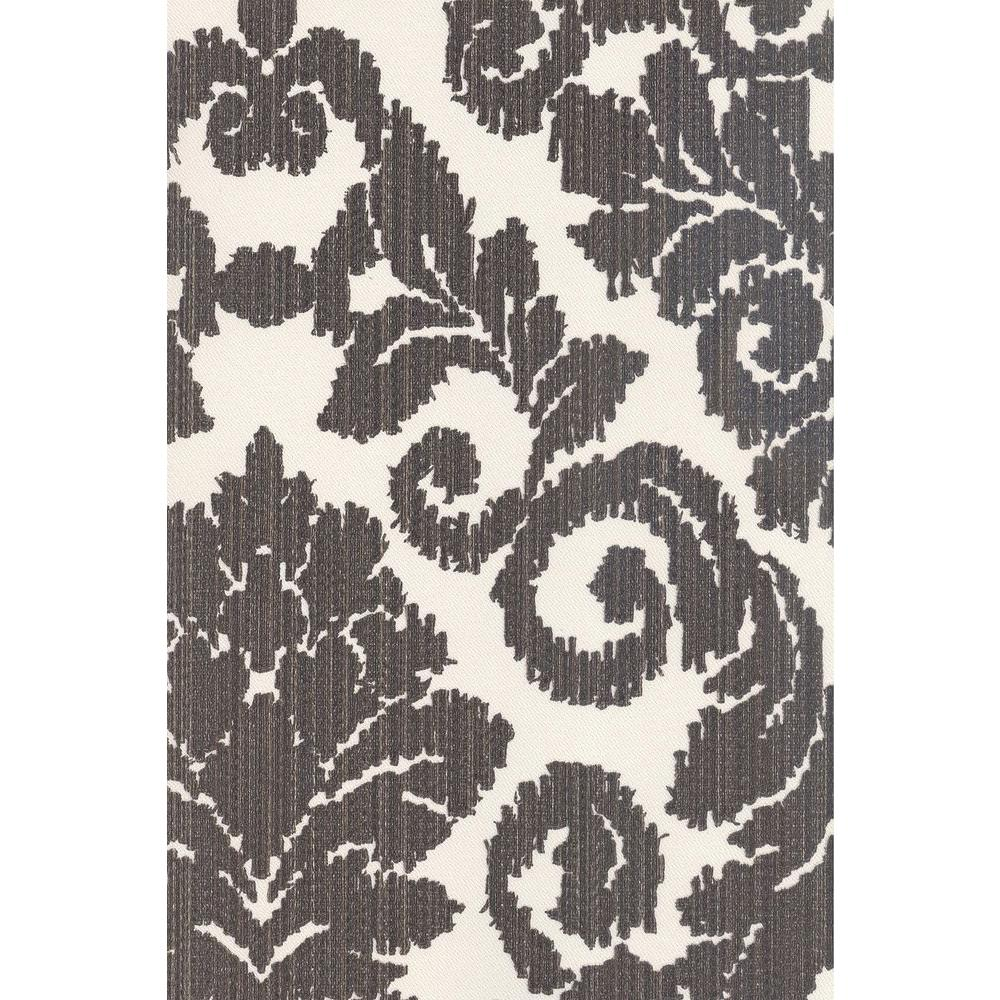 null 56 sq. ft. Textile Look Damask Wallpaper