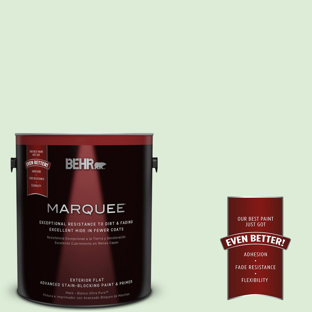 BEHR MARQUEE 1-gal. #M390-2 Misty Meadow Flat Exterior Paint-445001 - The