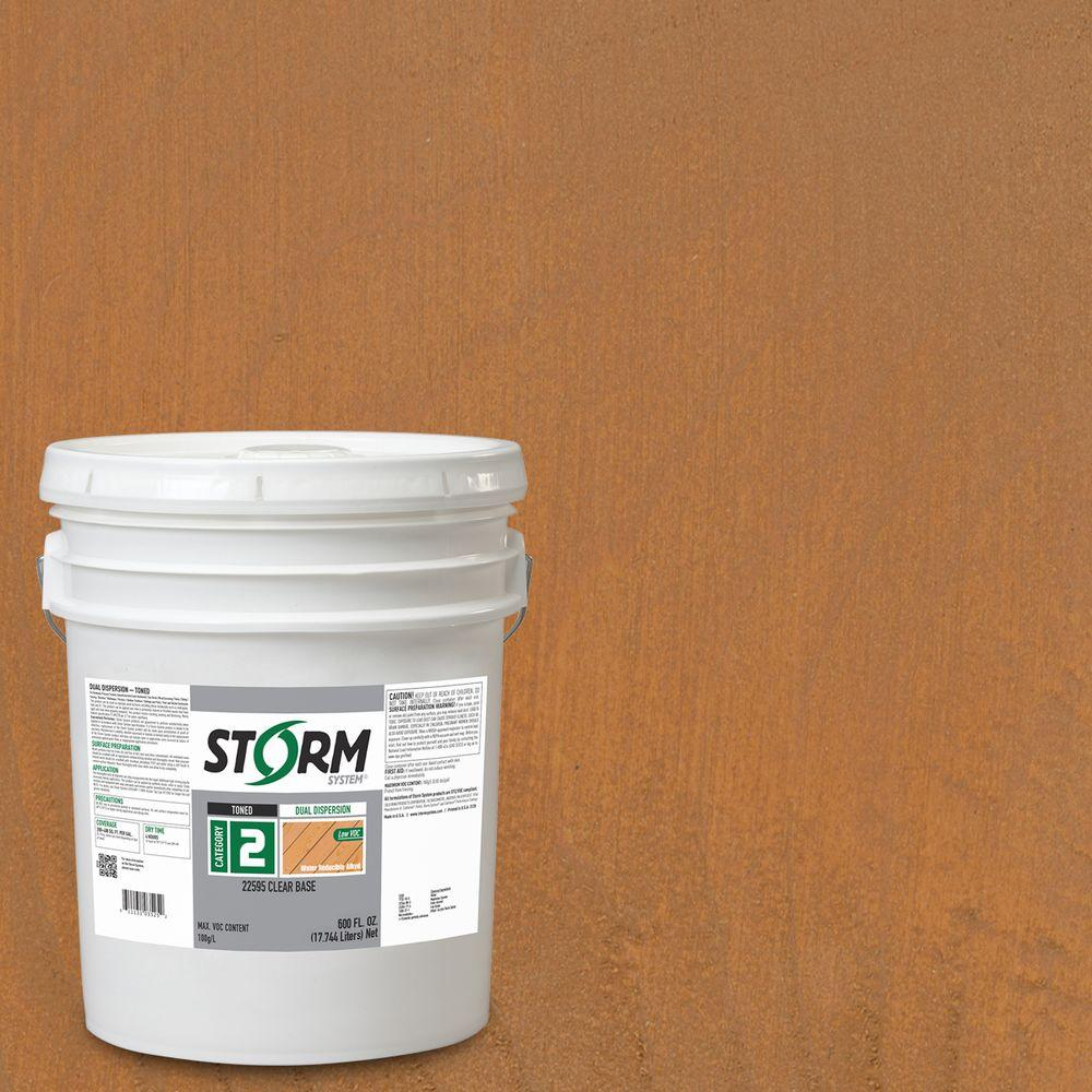 Storm System Category 2 5 gal. Redwood Forest Exterior Semi-Transparent Dual Dispersion Wood Finish