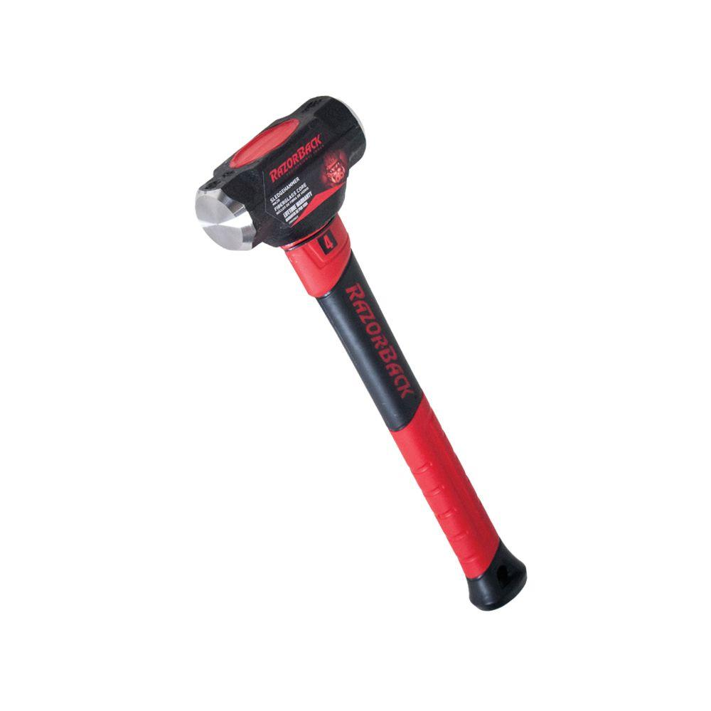 4 lb. Sledge Hammer with 15 in. Fiberglass Handle