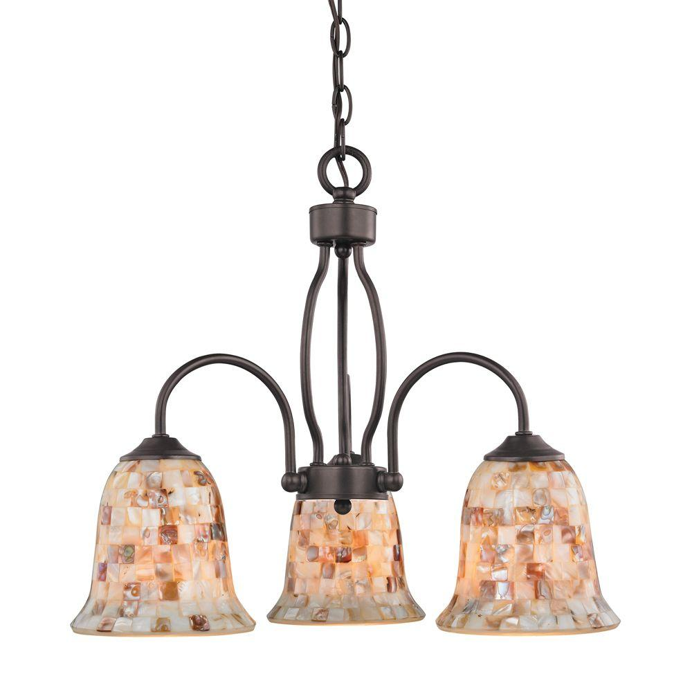 3-Light Ceiling Oil Rubbed Bronze Chandelier