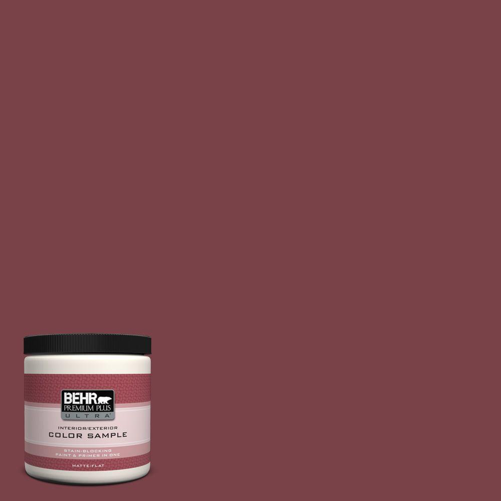 8 oz. #PPU1-13 Spiced Wine Interior/Exterior Paint Sample