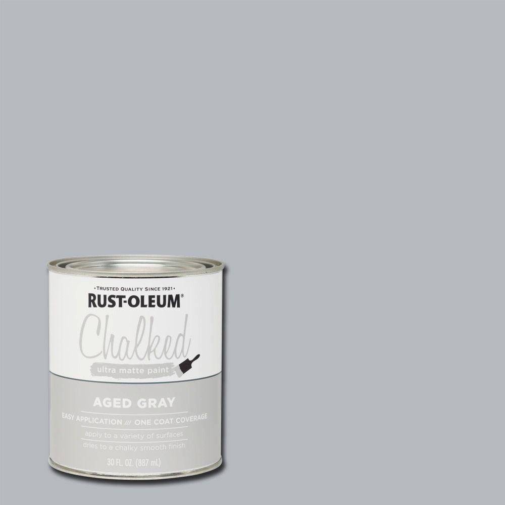 30 oz. Ultra Matte Interior Chalked Paint, Aged Gray (Case of