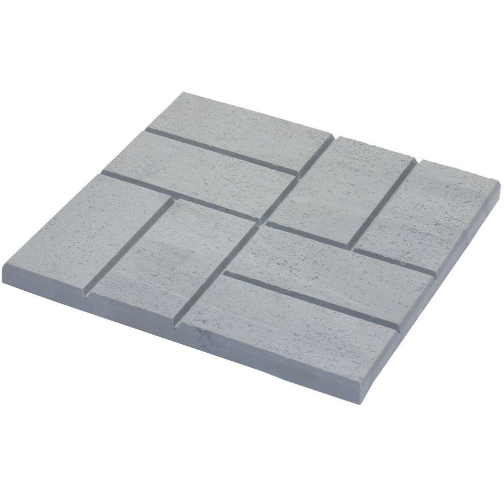 Emsco 16 x 16 in. Plastic and Lightweight Brick Pattern Resin Patio Pavers (12-Pack)