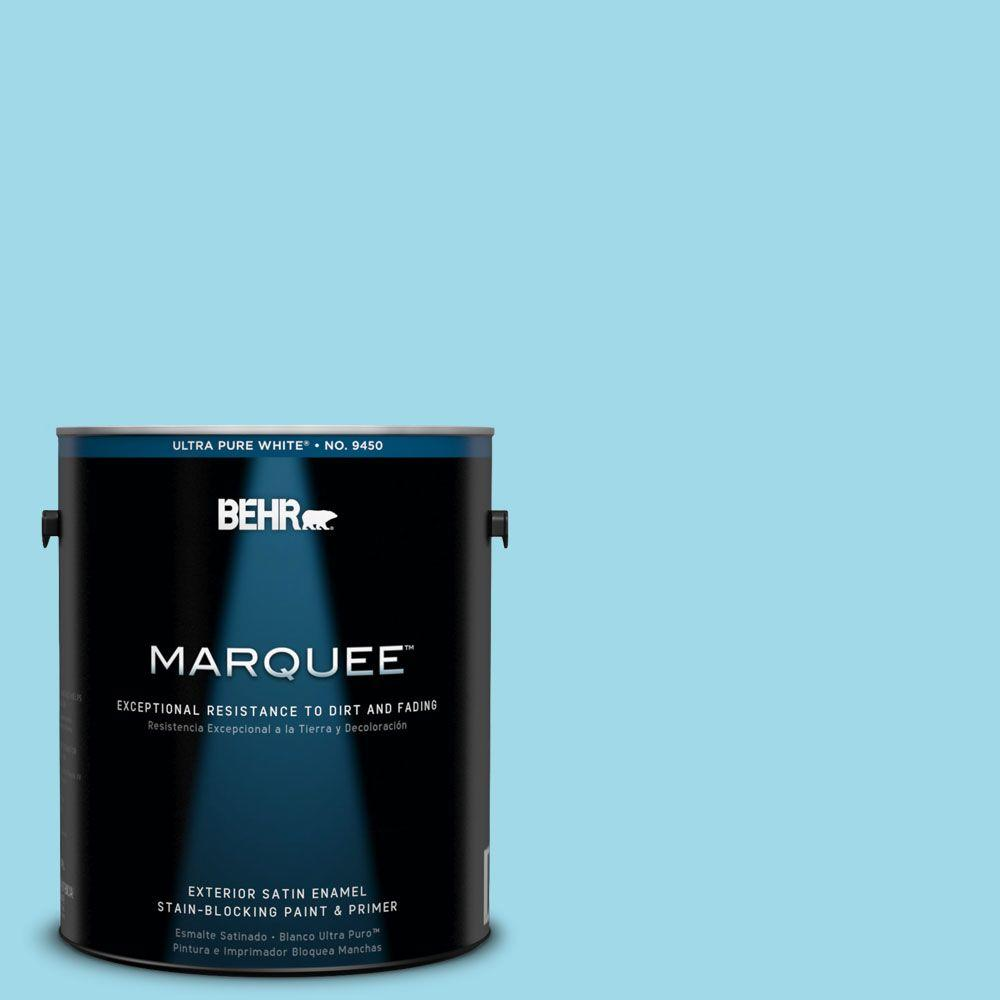 BEHR MARQUEE 1-gal. #520A-3 Nevada Sky Satin Enamel Exterior Paint-945001 -
