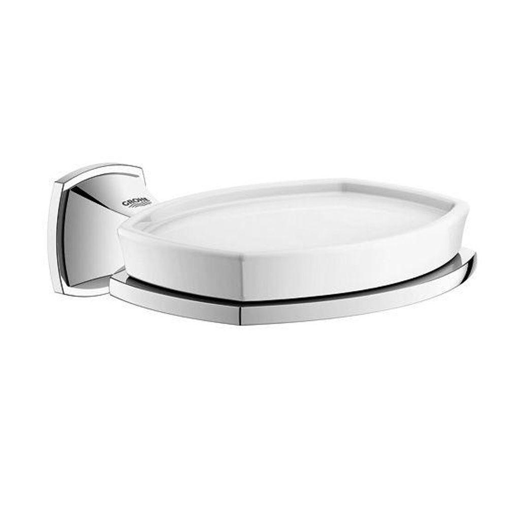 GROHE Grandera Wall-Mounted Soap Dish with Holder in StarLight Chrome