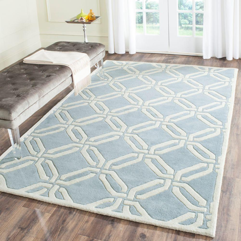 Safavieh Chatham Blue/Ivory 4 ft. x 6 ft. Area Rug-CHT763B-4 -