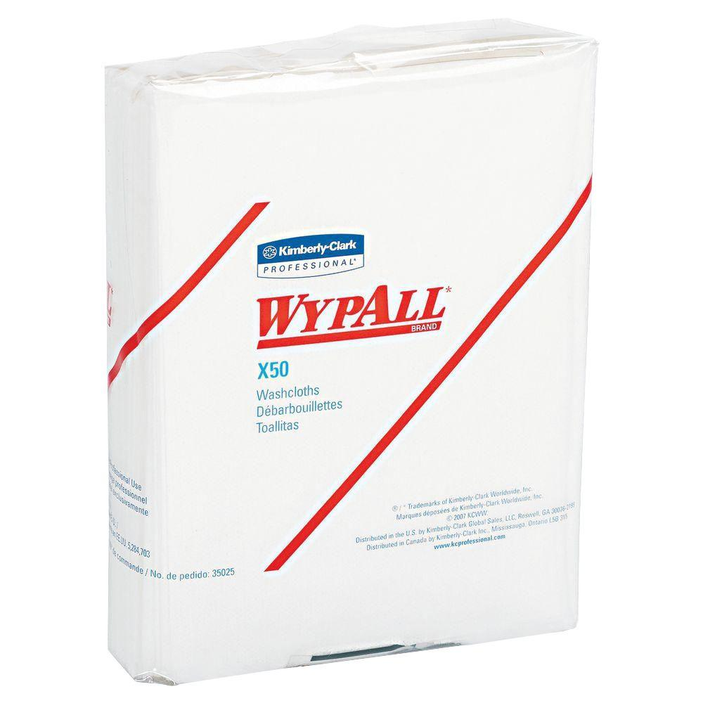WYPALL X50 White Quarterfold Wipers (26-Pack)-KCC 35025 - The Home Depot