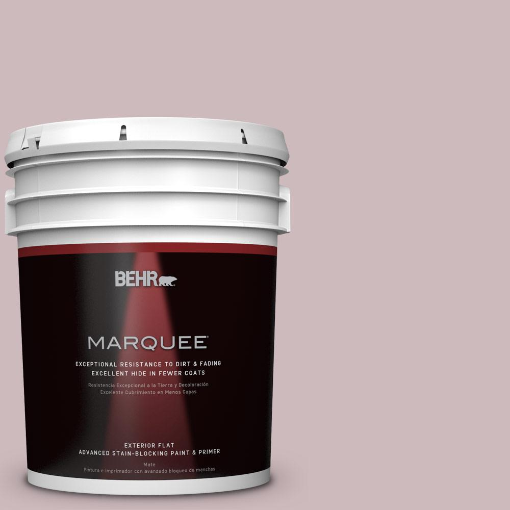 BEHR MARQUEE 5-gal. #N120-3 Mauve It Flat Exterior Paint-445405 - The