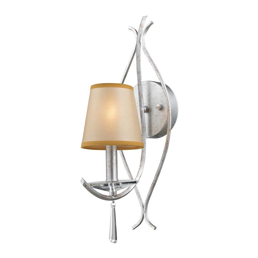 Titan Lighting Clarendon 1-Light Silver Wall Sconce