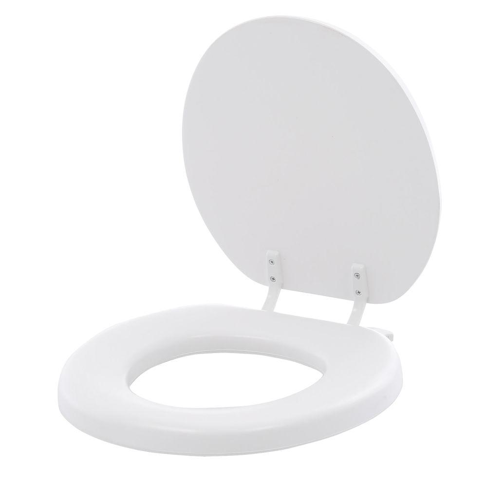 Lift-Off Soft Round Closed Front Toilet Seat in White