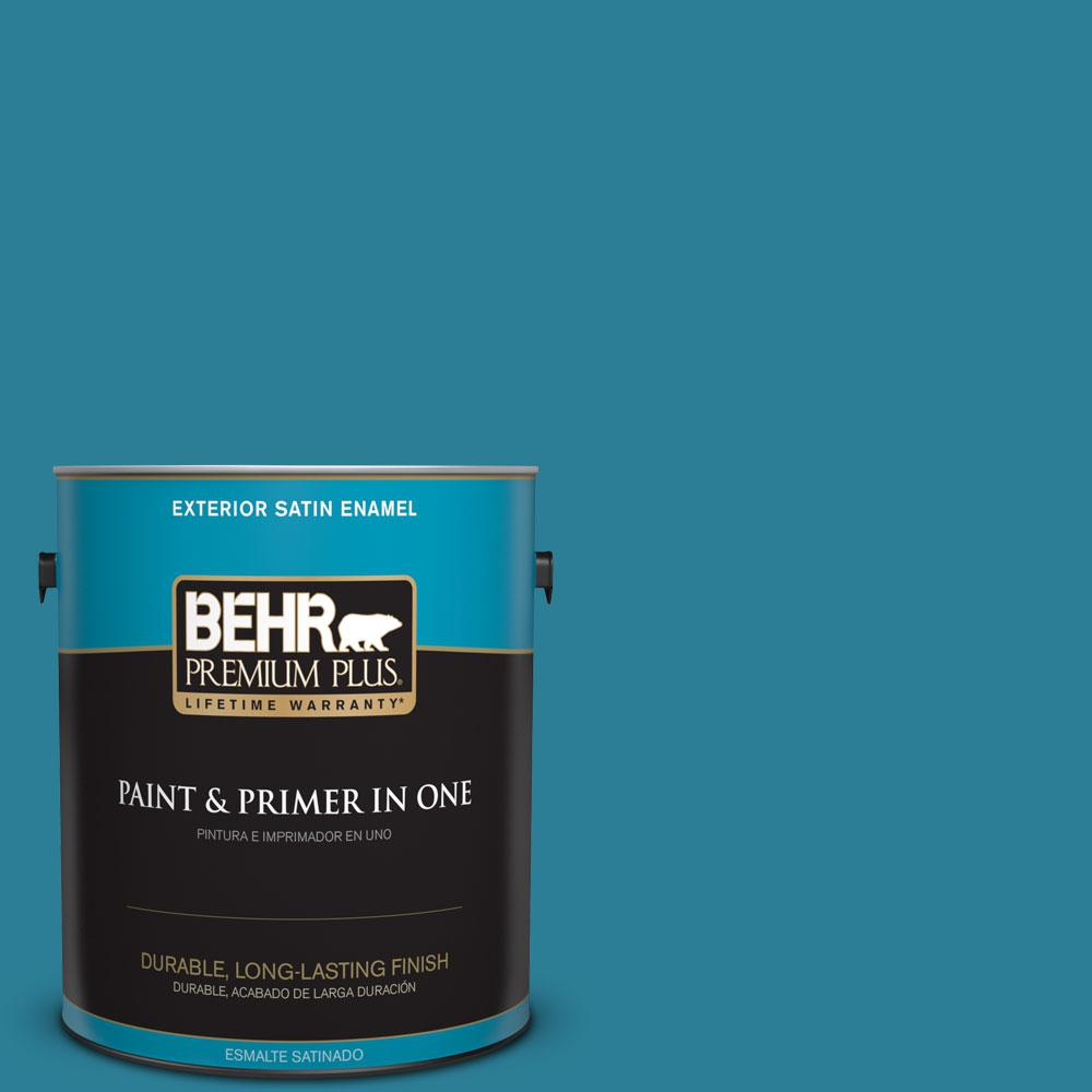 1-gal. #M480-6 Valley of Glaciers Satin Enamel Exterior Paint