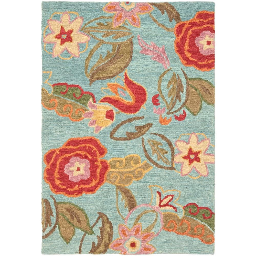 Blossom Blue/Multi 4 ft. x 6 ft. Area Rug