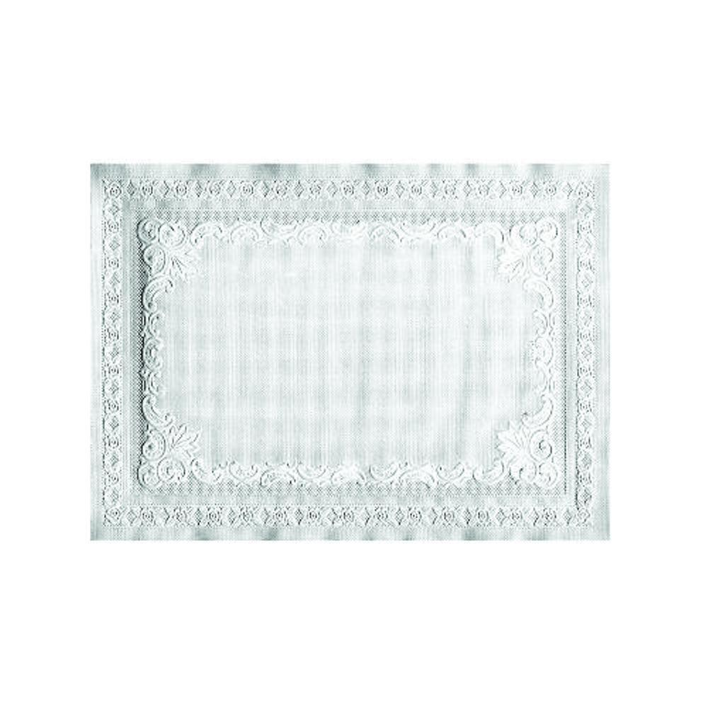 Hoffmaster 9-3/4 in. x 13-3/4 in. White Barato Patterned Placemats (1000 per Case)