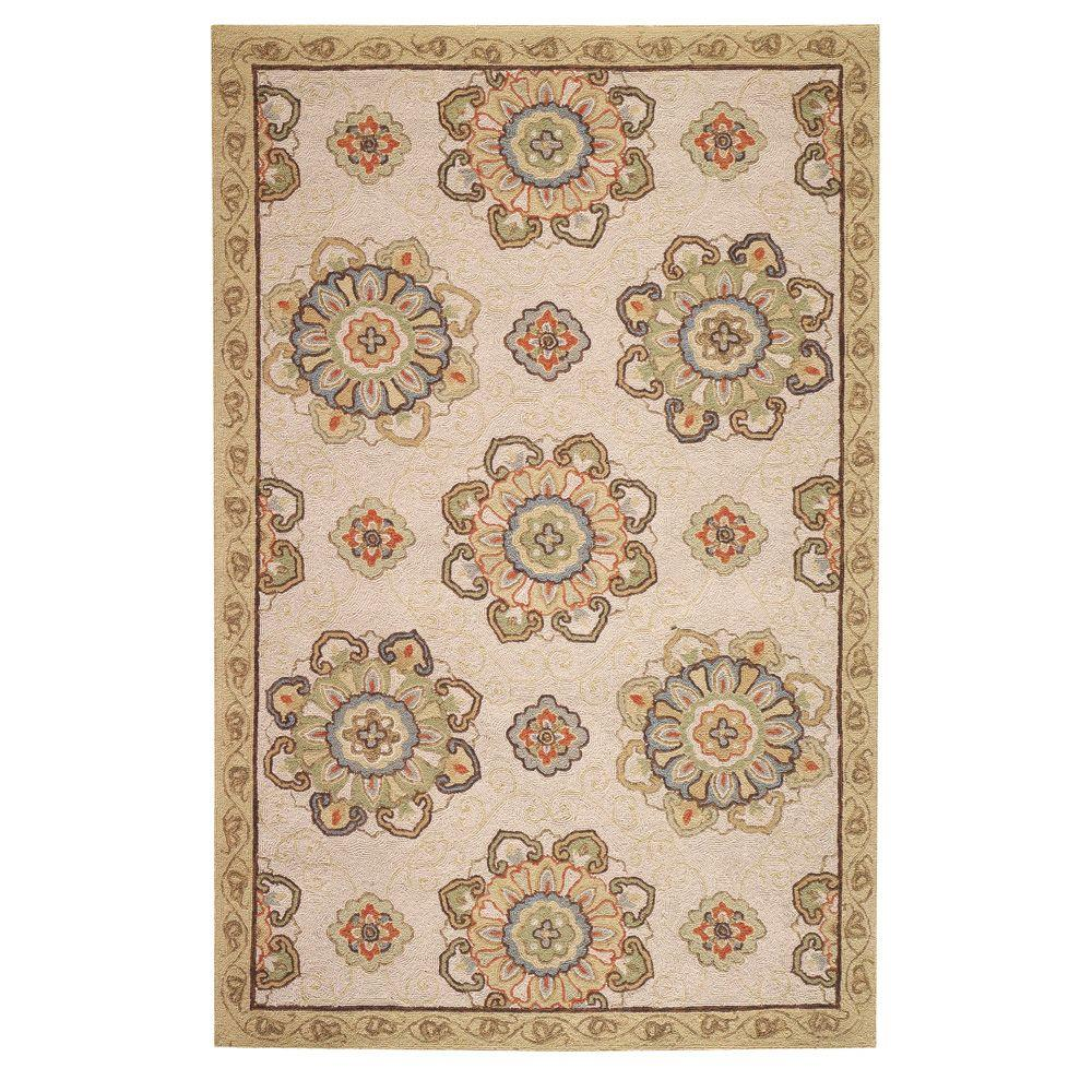 Home Decorators Collection Bianca Beige 2 ft. 6 in. x 4 ft. Area Rug