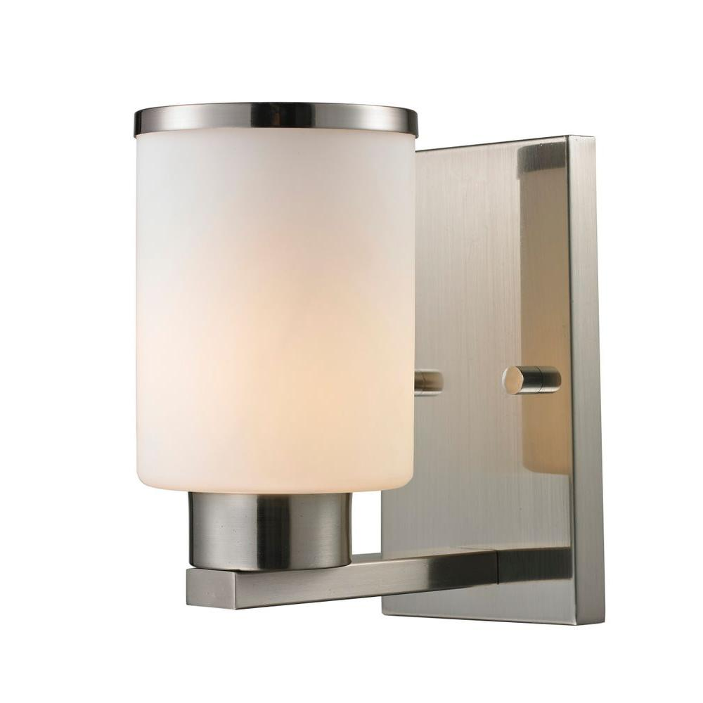Empire 1-Light Brushed Nickel Sconce