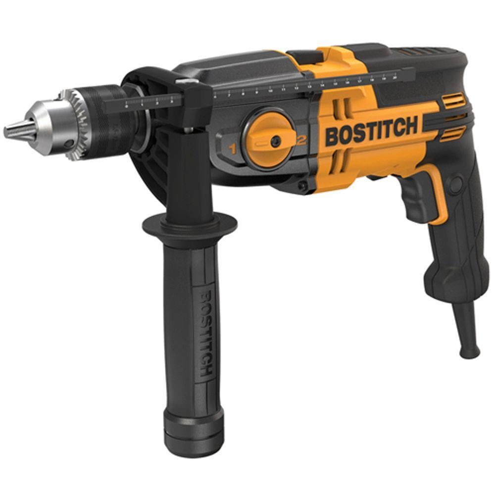 Bostitch 7 Amp 1/2 in. Variable Speed Reversing 2-Speed Hammer Drill