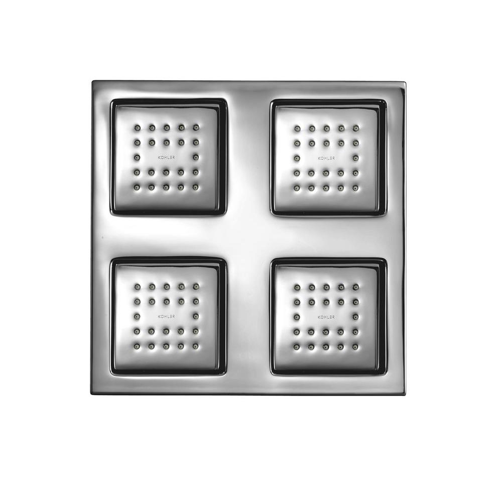 KOHLER Watertile Square Rain 22-Nozzle Overhead Showering Panel in Polished Chrome-DISCONTINUED