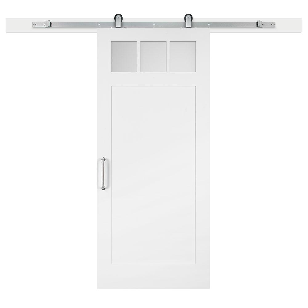 jeff lewis 36 in x 84 in white collar craftsman clear 3 lite