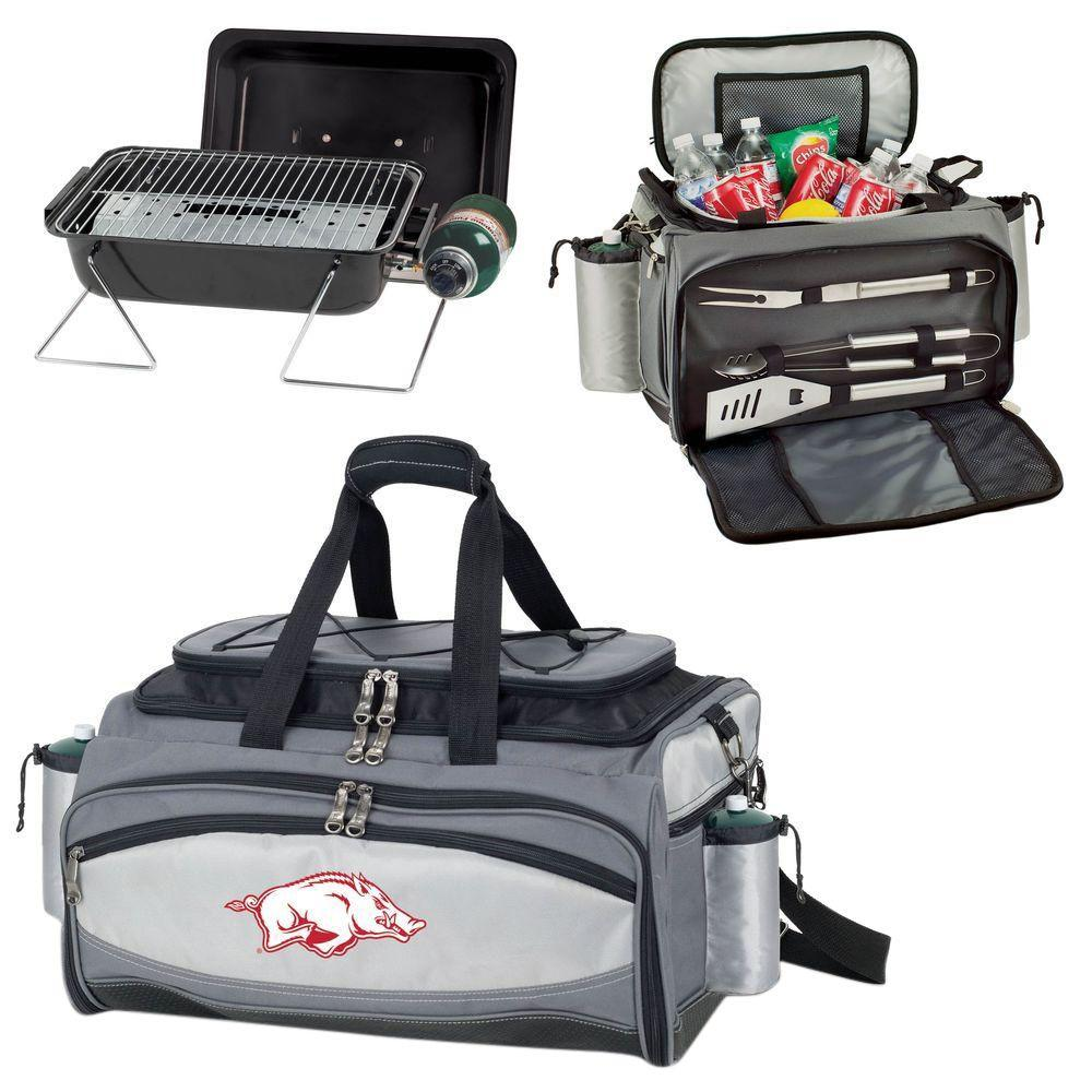 Vulcan Arkansas Tailgating Cooler and Propane Gas Grill Kit with Digital